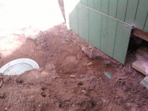 House on top of septic tank