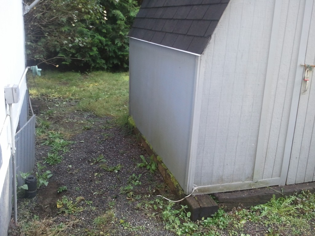 Septic tank under shed, competitor claimed to have pumped 4 times from clean out pipe at house