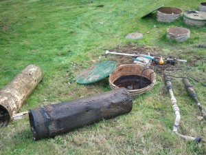 Neglected septic system solids contaminate pump tank, screens, and filters