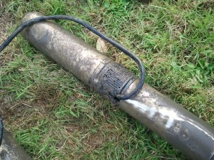 High head sewage pump out of a neglected septic tank