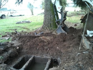 old septic tank getting new top lid