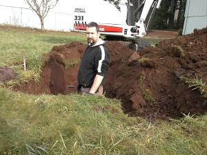 Starting diagnosis of backed up septic system. Problem is in the drainfield