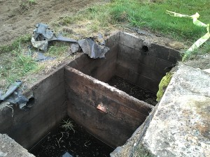 Leaking Cinder Block Septic Tank